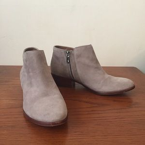 Suede Petty Ankle Booties